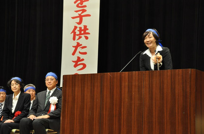 安倍昭恵さん。2012年9月26日