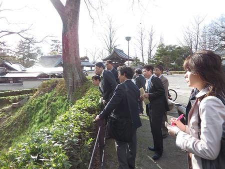 岡崎公園 歴史的文化遺産視察(2014年3月27日)
