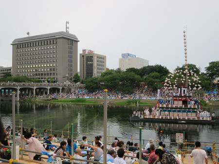 岡崎花火大会 鉾船