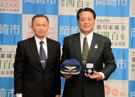 教育航空集団司令官・池太郎さんと共に