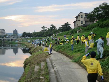 菅生川草刈一斉清掃(2015年9月6日)