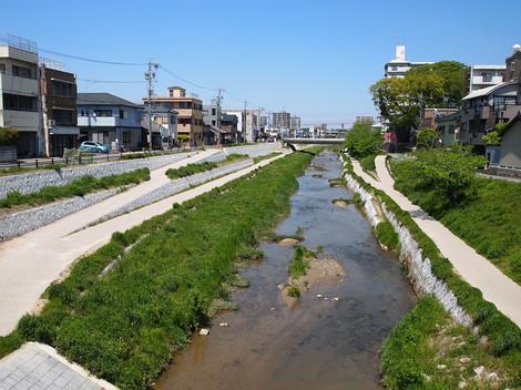 伊賀川改修(2013年4月撮影)