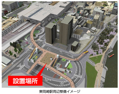 東岡崎駅・ペデストリアンデッキ