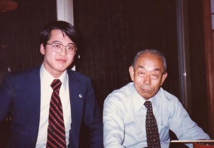 福田赳夫元首相の事務所の忘年会にて(1979年12月)
