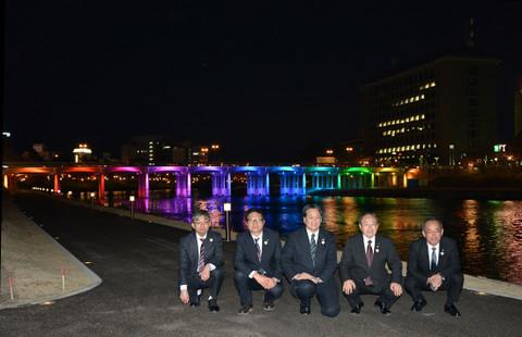 殿橋ライトアップの点灯式(2016年3月25日)