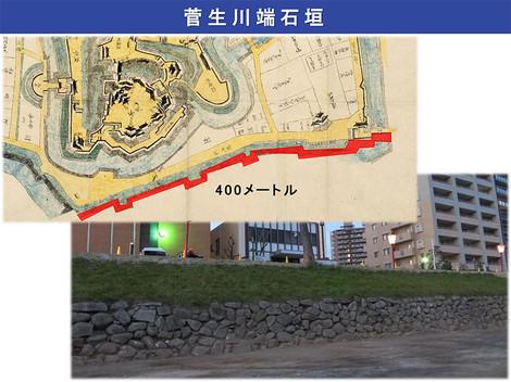 菅生川端石垣