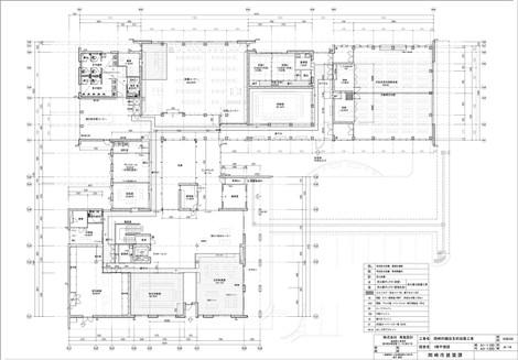 岡崎市額田支所改築工事・1階平面図