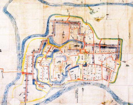 17世紀前半の岡崎城郭図