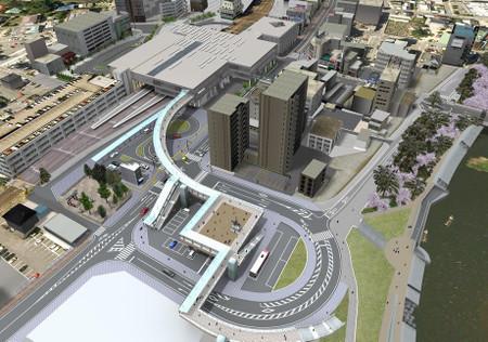 東岡崎駅周辺地区整備全体のイメージ図