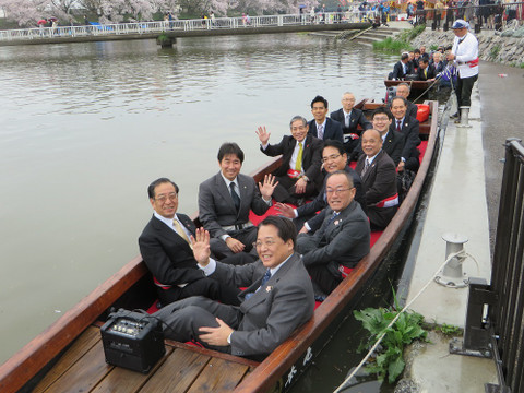 岡崎城下 舟遊び