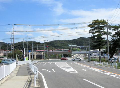 国道473号バイパスの起点(岡崎市本宿町)