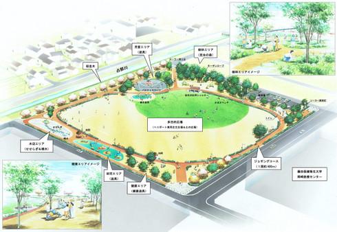 岡崎市針崎町に建設予定の「駅南中央公園」