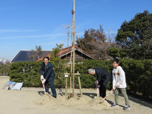 岡崎さくら100年プロジェクト・三島学区植樹式