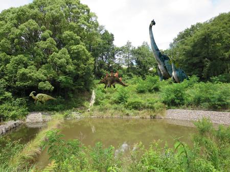 東公園の恐竜(イメージ図)