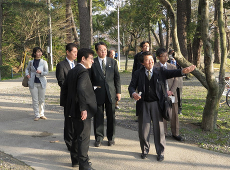 岡崎公園視察 2014年3月27日