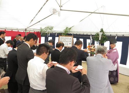 岡崎市民病院救急棟建設工事安全祈願祭