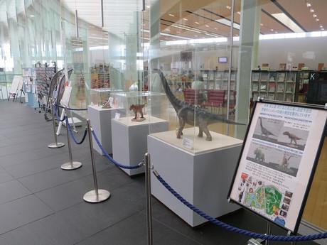 恐竜モニュメントの縮小模型