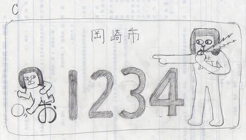 ご当地ナンバープレートC案(内田康宏)