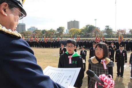 岡崎市消防団連合観閲式(2014年11月16日)