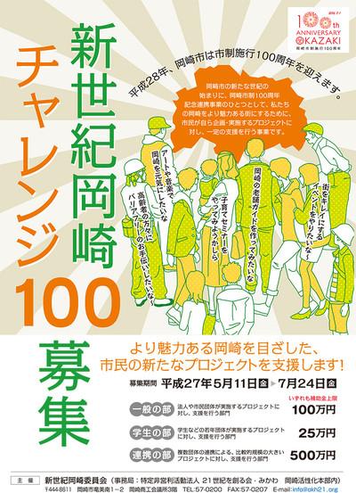 新世紀岡崎チャレンジ100 募集概要
