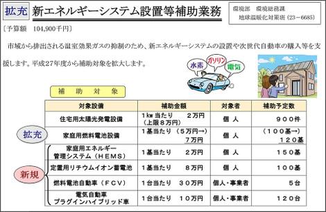 岡崎市 新エネルギーシステム設置等補助業務