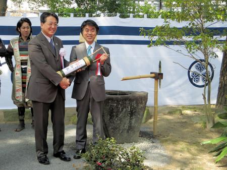 豊田市長・太田稔彦さんと共に(2015年3月22日)