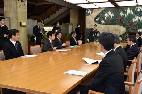 「乙川リバーフロント地区かわまちづくり」の登録伝達式