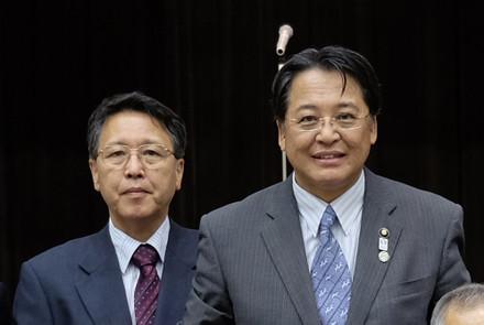 島津達雄先生と共に(2014年)