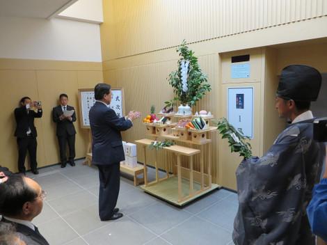 岡崎市斎場・火入れ式(2016年5月29日)