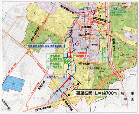 都市計画道路福岡線の建設事業
