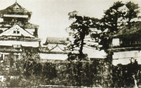 明治5年頃の岡崎城