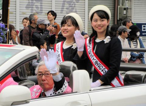 2017観光大使おかざき(白井梨花さん、田村汐里さん)