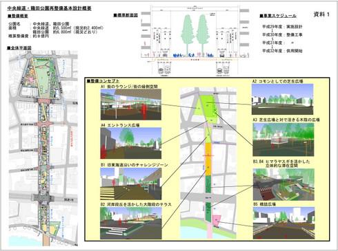中央緑道・籠田公園再整備基本設計概要