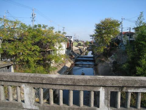 伊賀川・旧瀧見橋。2008年11月撮影