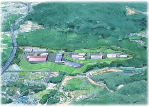 阿知和地区工業団地の構想図
