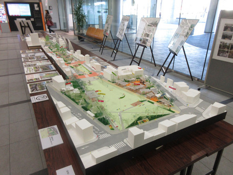 岡崎セントラルアベニュー完成模型図