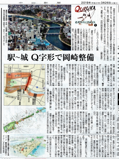 『中日新聞』2019年3月26日