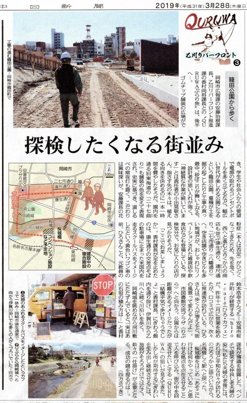 『中日新聞』2019年3月28日