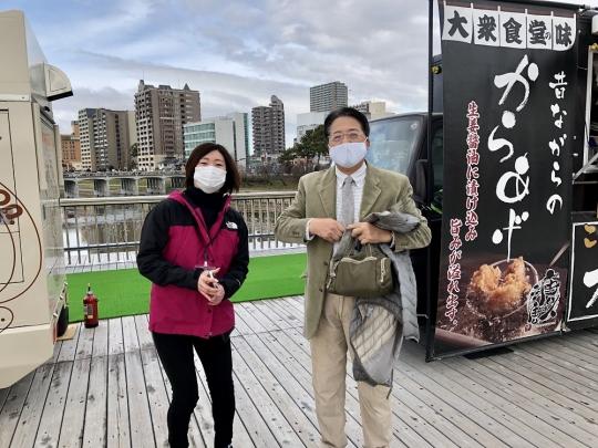 桜城橋にて(2020年12月26日)